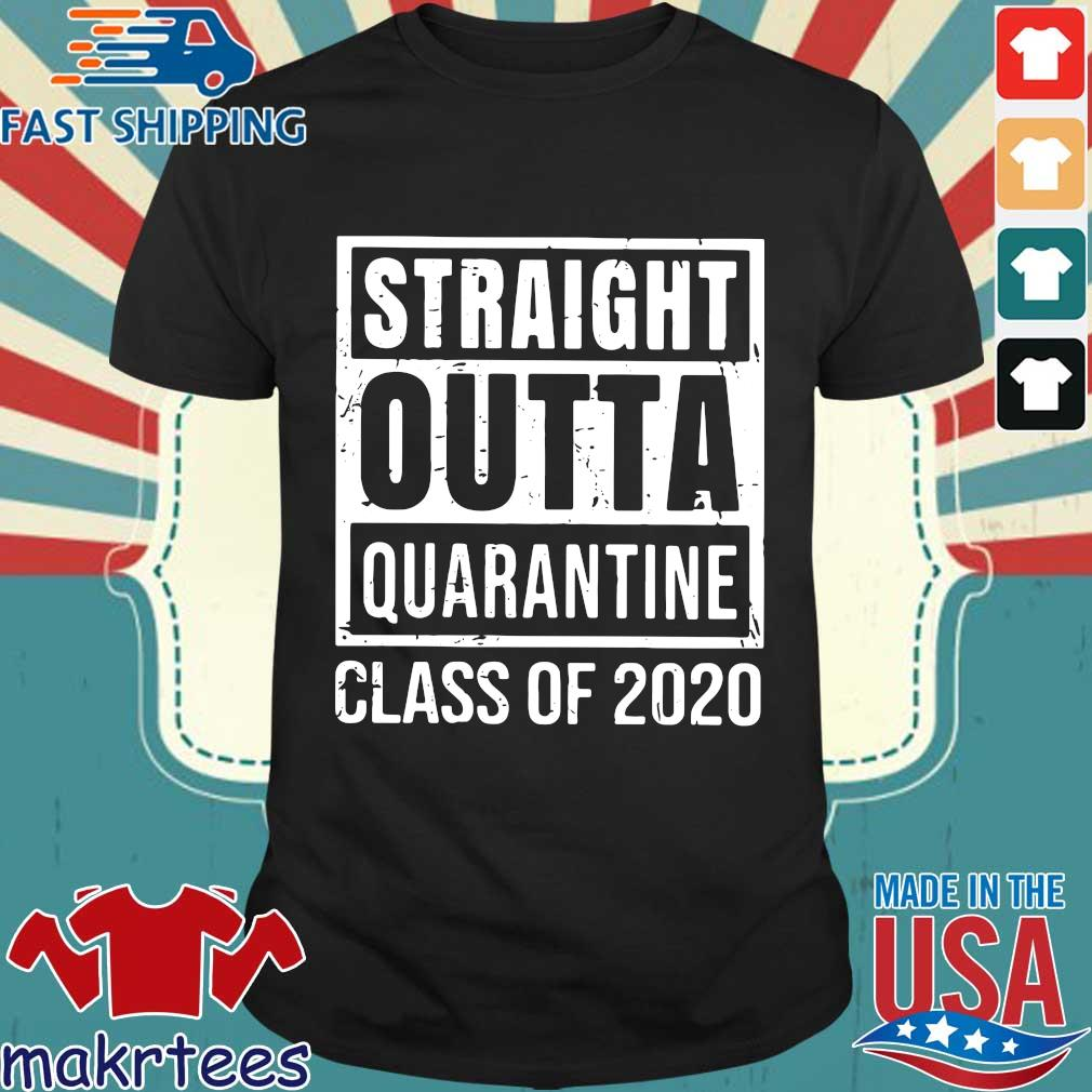 Straight Outta Quarantine Class Of 2020 Distressed Classic Tee Shirt