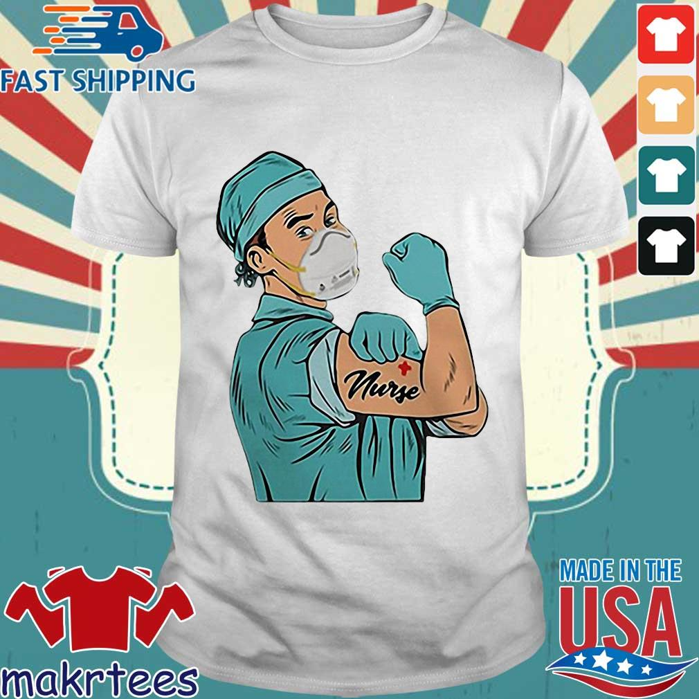 Strong Doctor Mask Tattoos Nurse For T-shirt