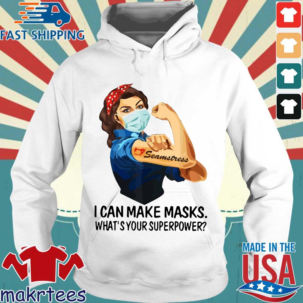 Strong Girl Tattoo Quilter I Can Make Masks What's Your Superpower Shirt Hoodie trang