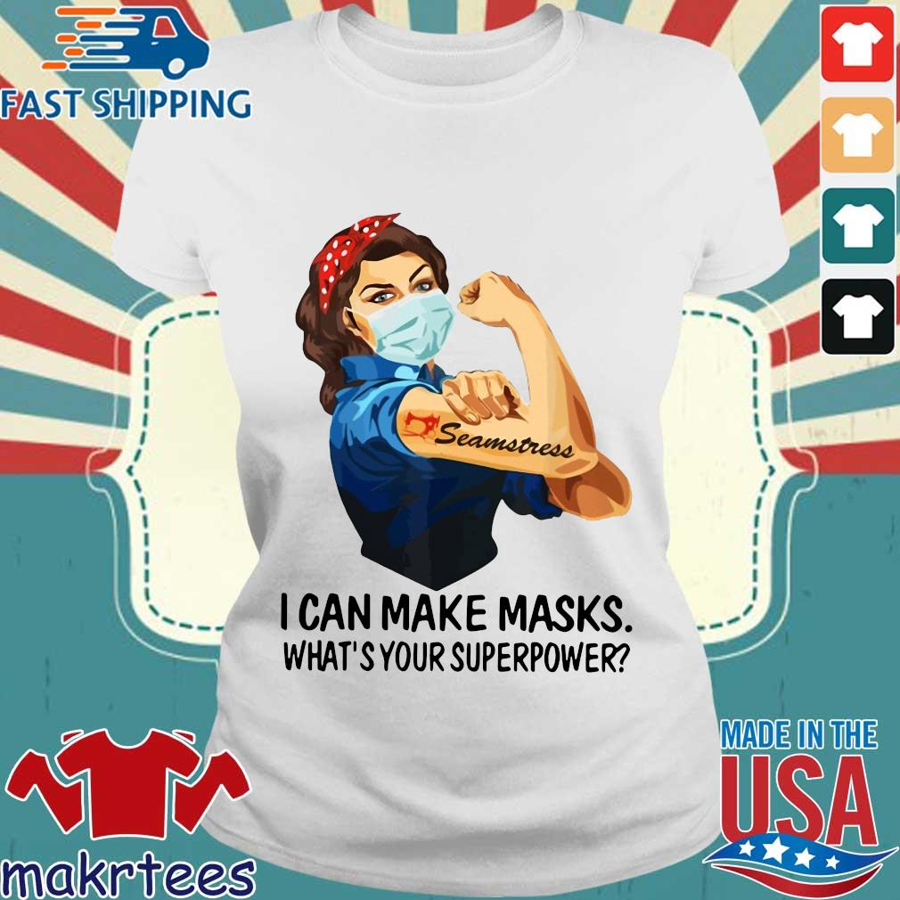 Strong Girl Tattoo Quilter I Can Make Masks What's Your Superpower Shirt Ladies trang
