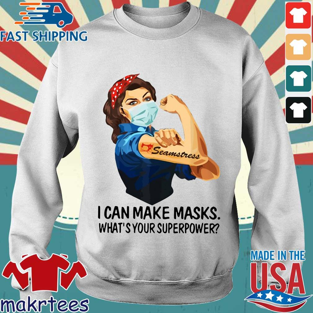 Strong Girl Tattoo Quilter I Can Make Masks What's Your Superpower Shirt Sweater trang