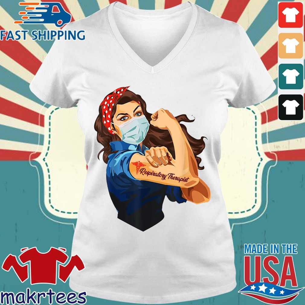 Strong Nurse Respiratory Therapist Shirt Ladies V-neck trang
