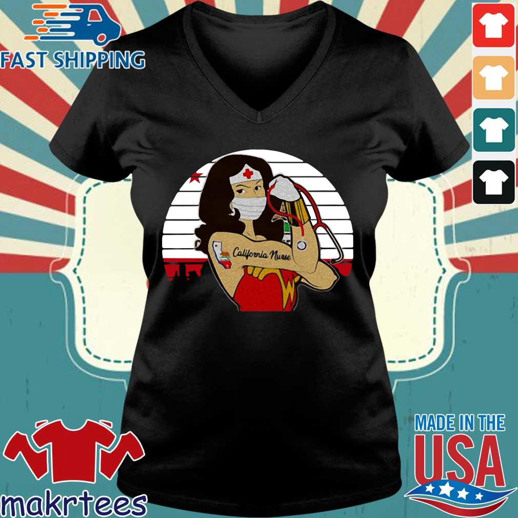 Strong Wonder Woman Tattoo Nurse Vintage Shirt Ladies V-neck den