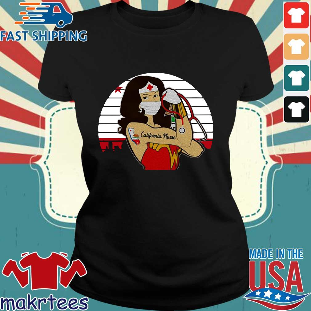Strong Wonder Woman Tattoo Nurse Vintage Shirt Ladies den