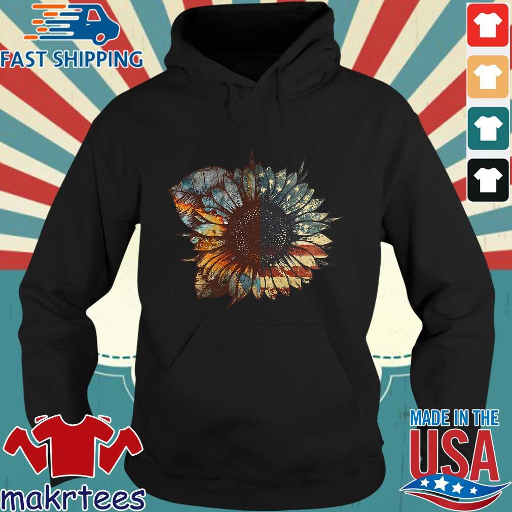 Sunflower American Flag Vintage Shirt Hoodie den