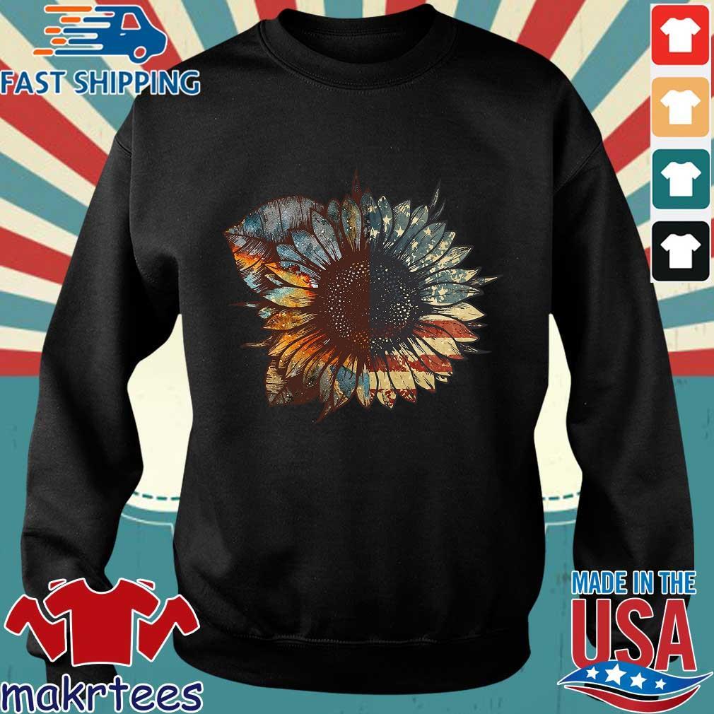Sunflower American Flag Vintage Shirt Sweater den