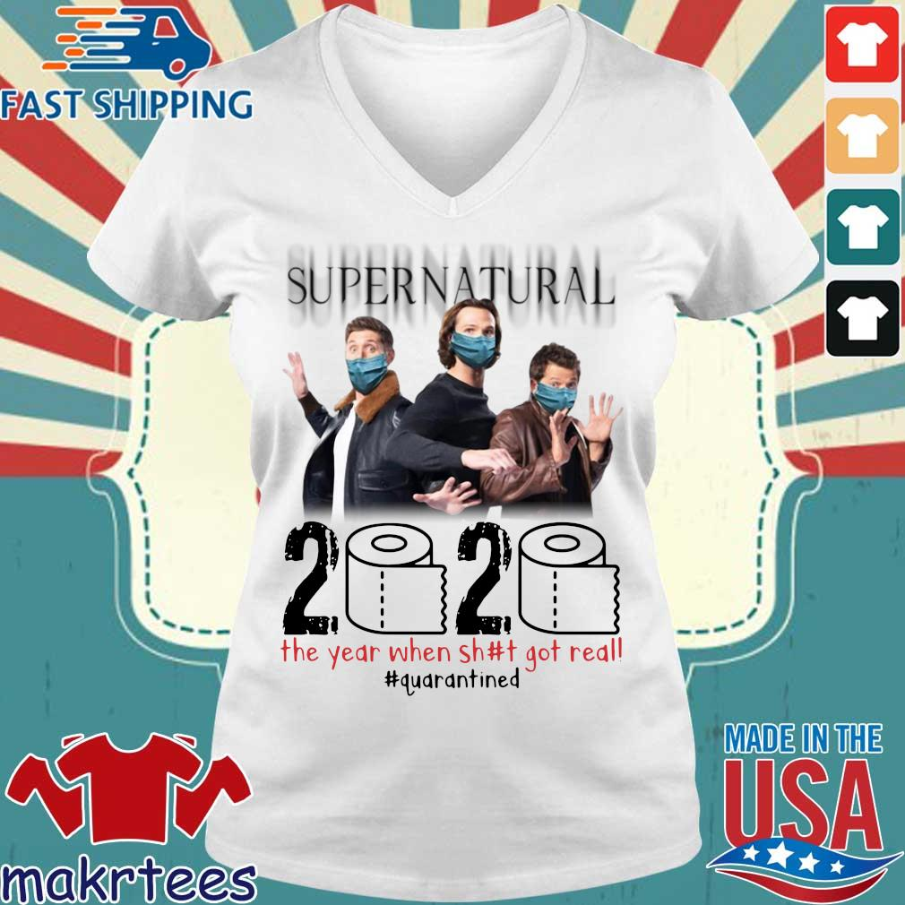 Supernatural 2020 The Year When Shit Got Real Shirt Ladies V-neck trang