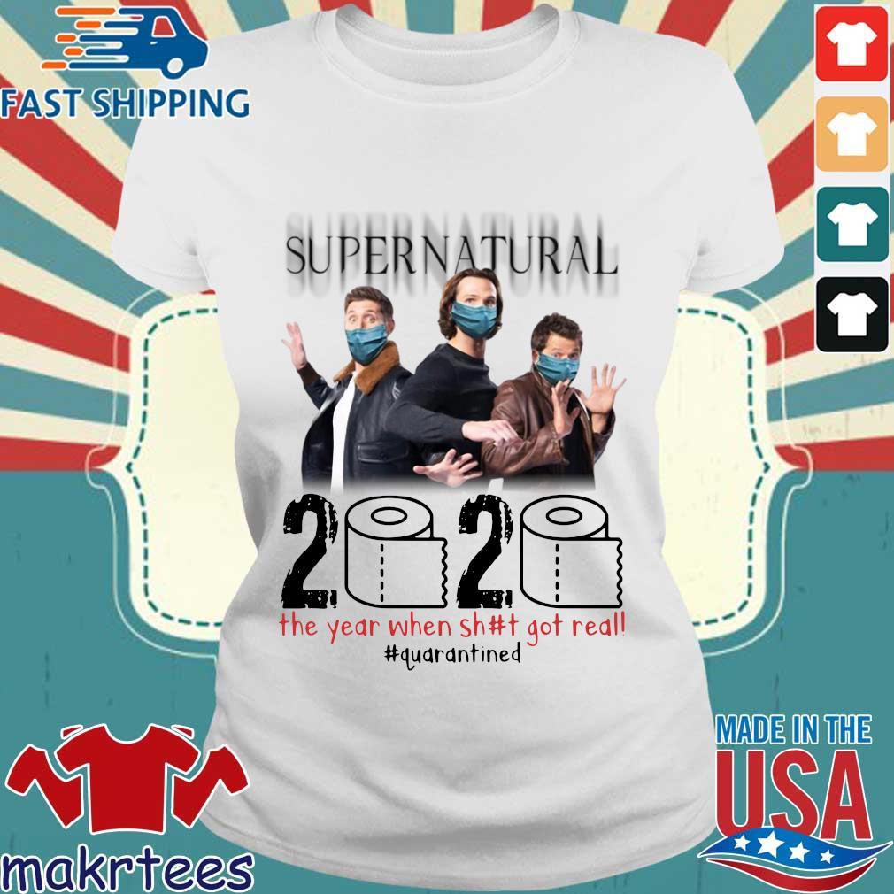 Supernatural 2020 The Year When Shit Got Real Shirt Ladies trang