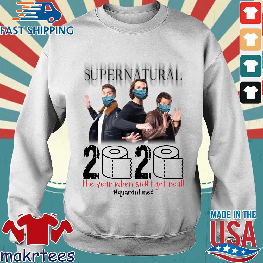 Supernatural 2020 The Year When Shit Got Real Shirt Sweater trang
