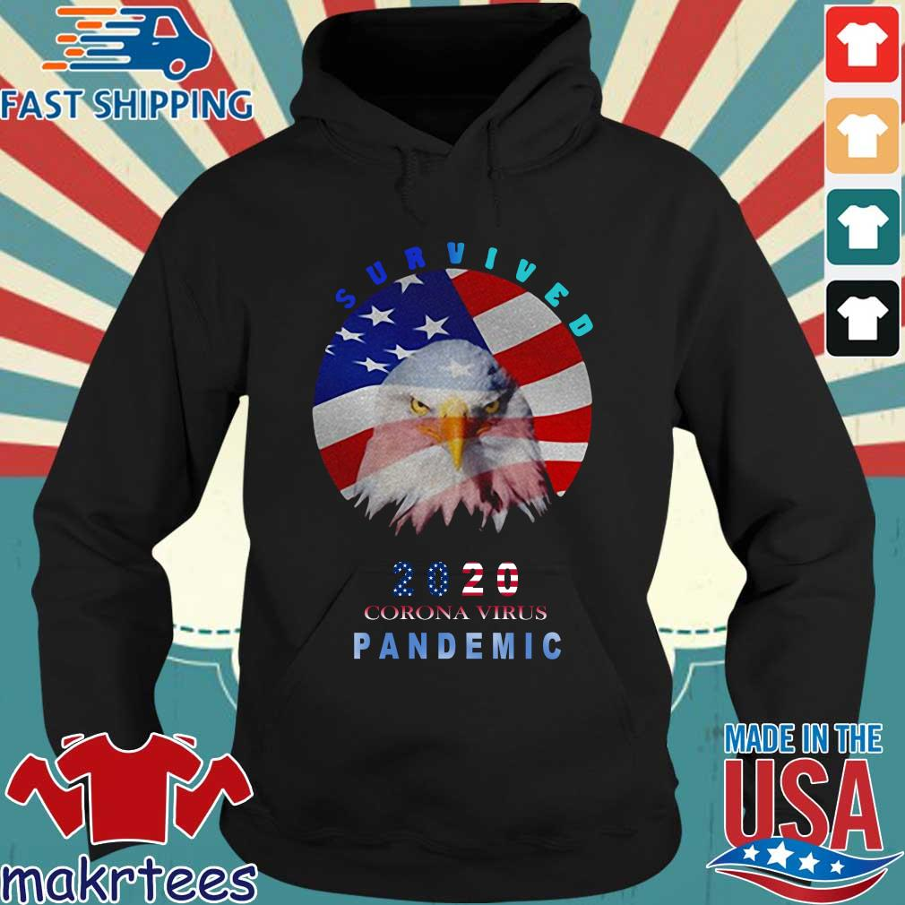 Survived 2020 Corona Virus Pandemic Flag T-s Hoodie den