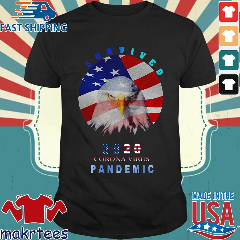 Survived 2020 Corona Virus Pandemic Flag T-shirt