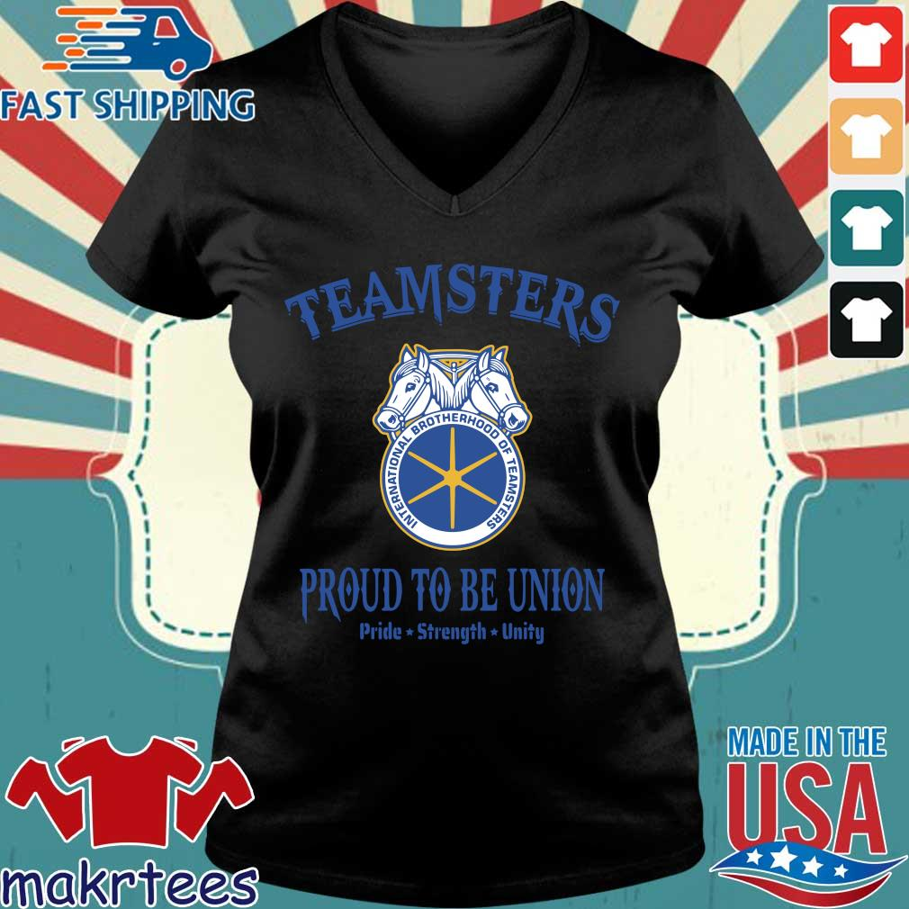 Teamsters Proud To Be Union Shirts Ladies V-neck den