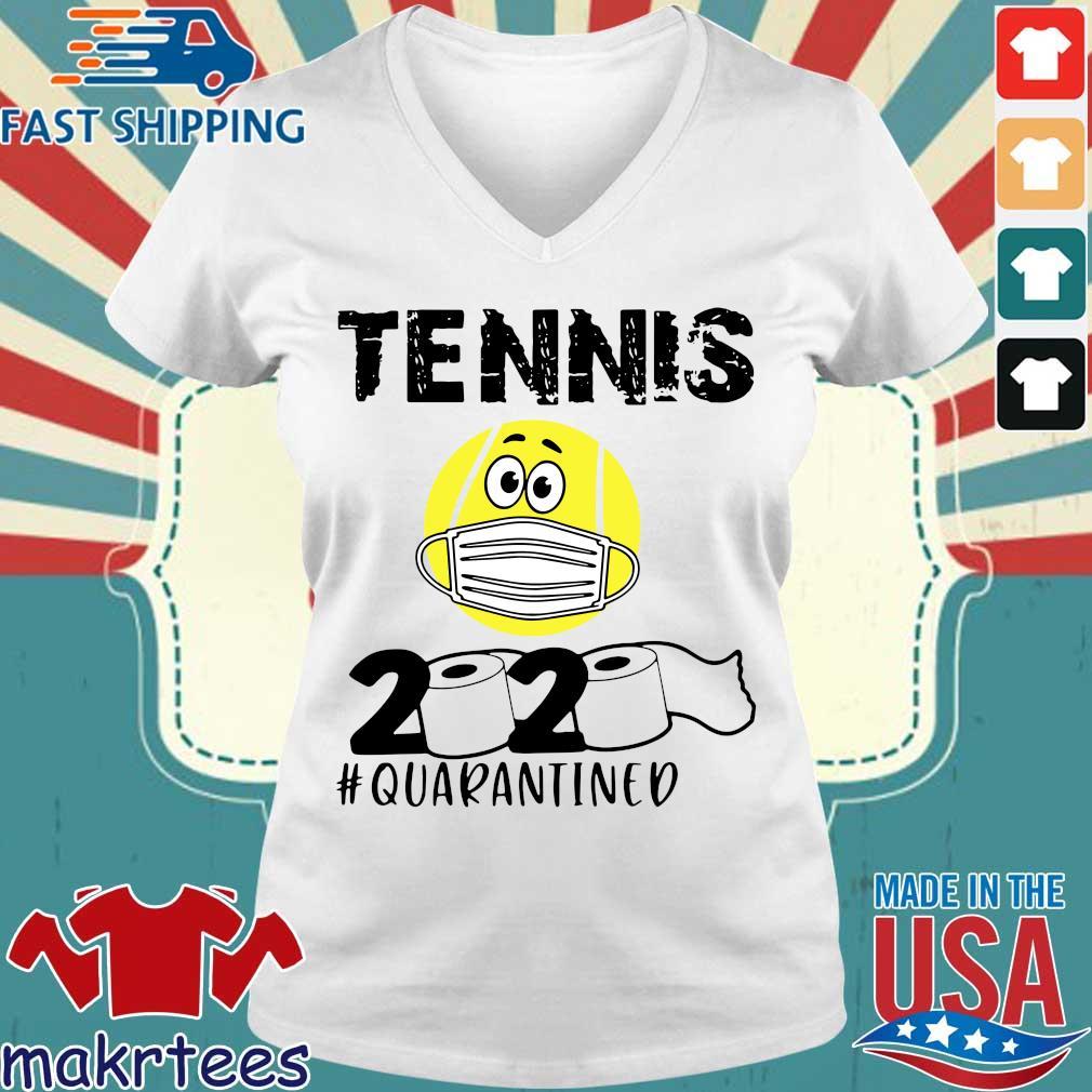 Tennis 2020 #quarantined T-s Ladies V-neck trang