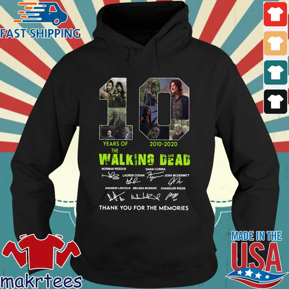 Thank You For The Memories 10 Years Of The Walking Dead 2010-2020 Signatures Shirt Hoodie den
