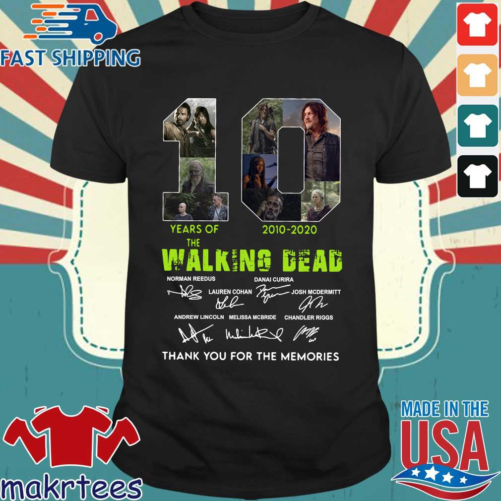 Thank You For The Memories 10 Years Of The Walking Dead 2010-2020 Signatures Shirt