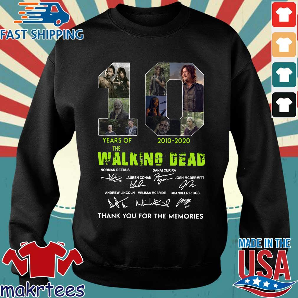 Thank You For The Memories 10 Years Of The Walking Dead 2010-2020 Signatures Shirt Sweater den