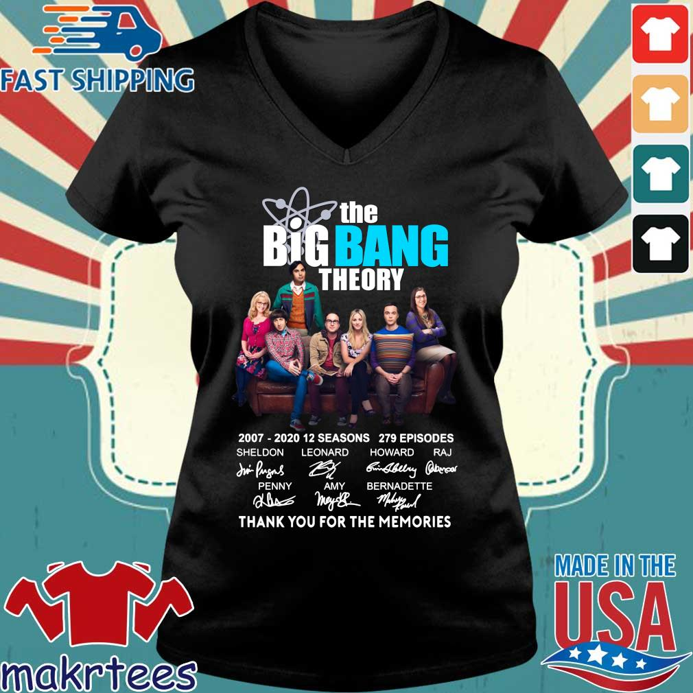 The Big Bang Theory Thank You For The Memories Shirt Ladies V-neck den