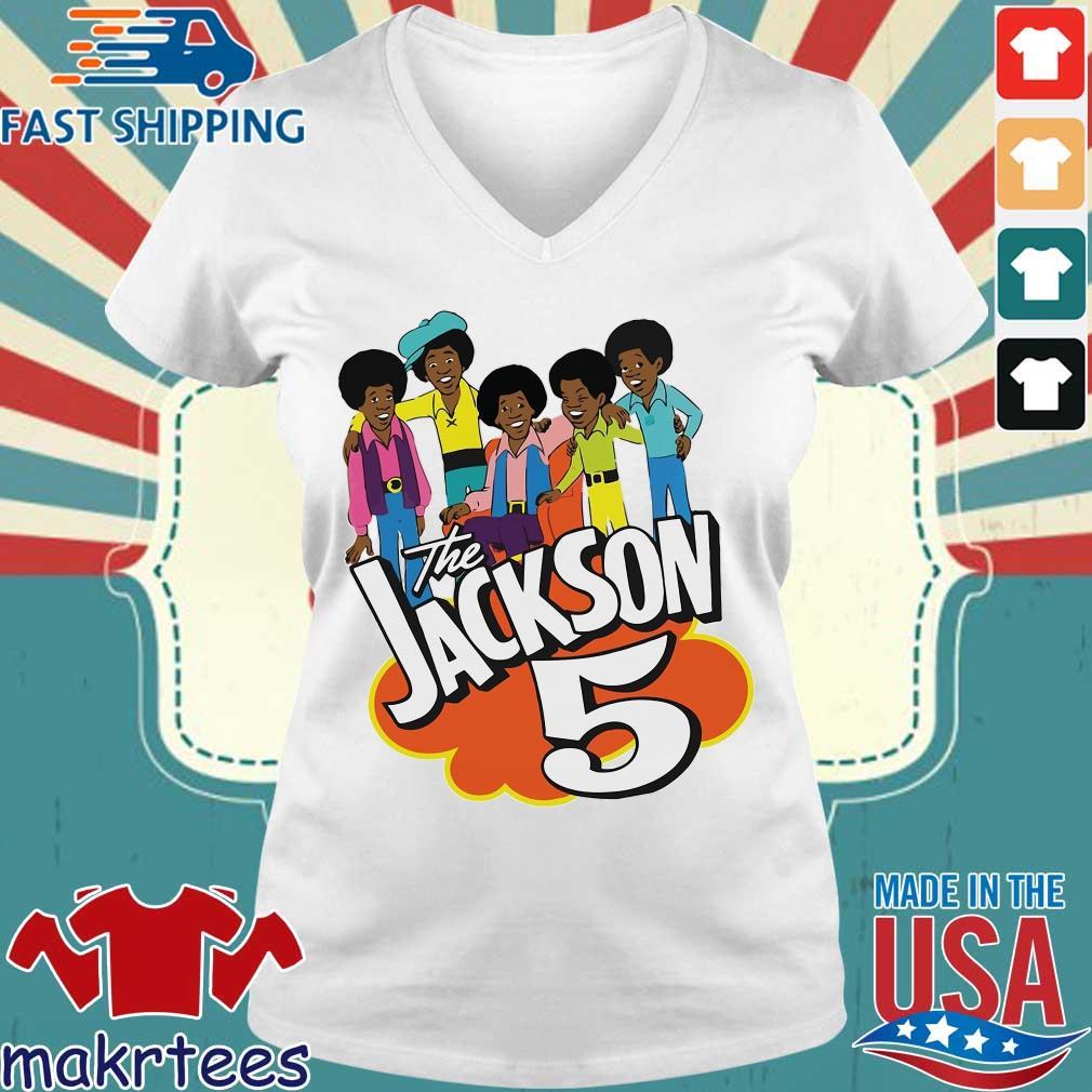 The Jackson 5 Cartoon Shirt Ladies V-neck trang