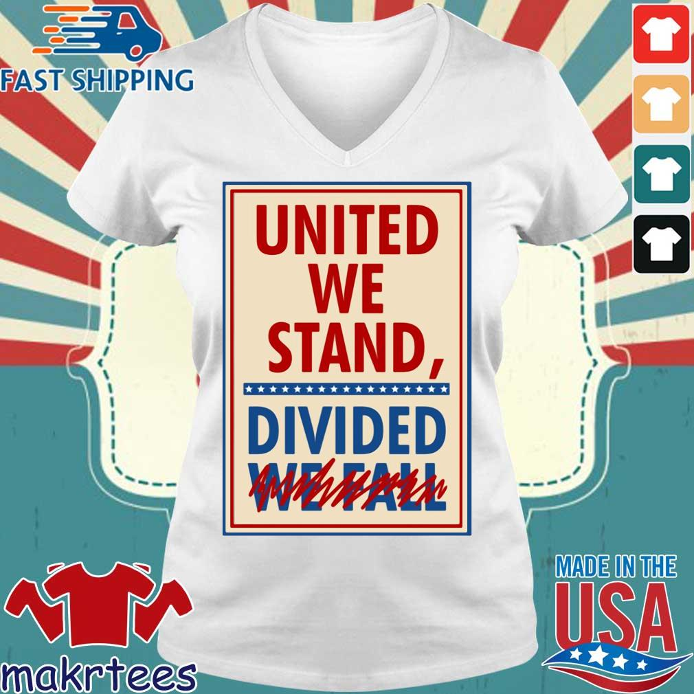 The Late Show With Stephen Colbert United We Stand Tee Shirts Ladies V-neck trang