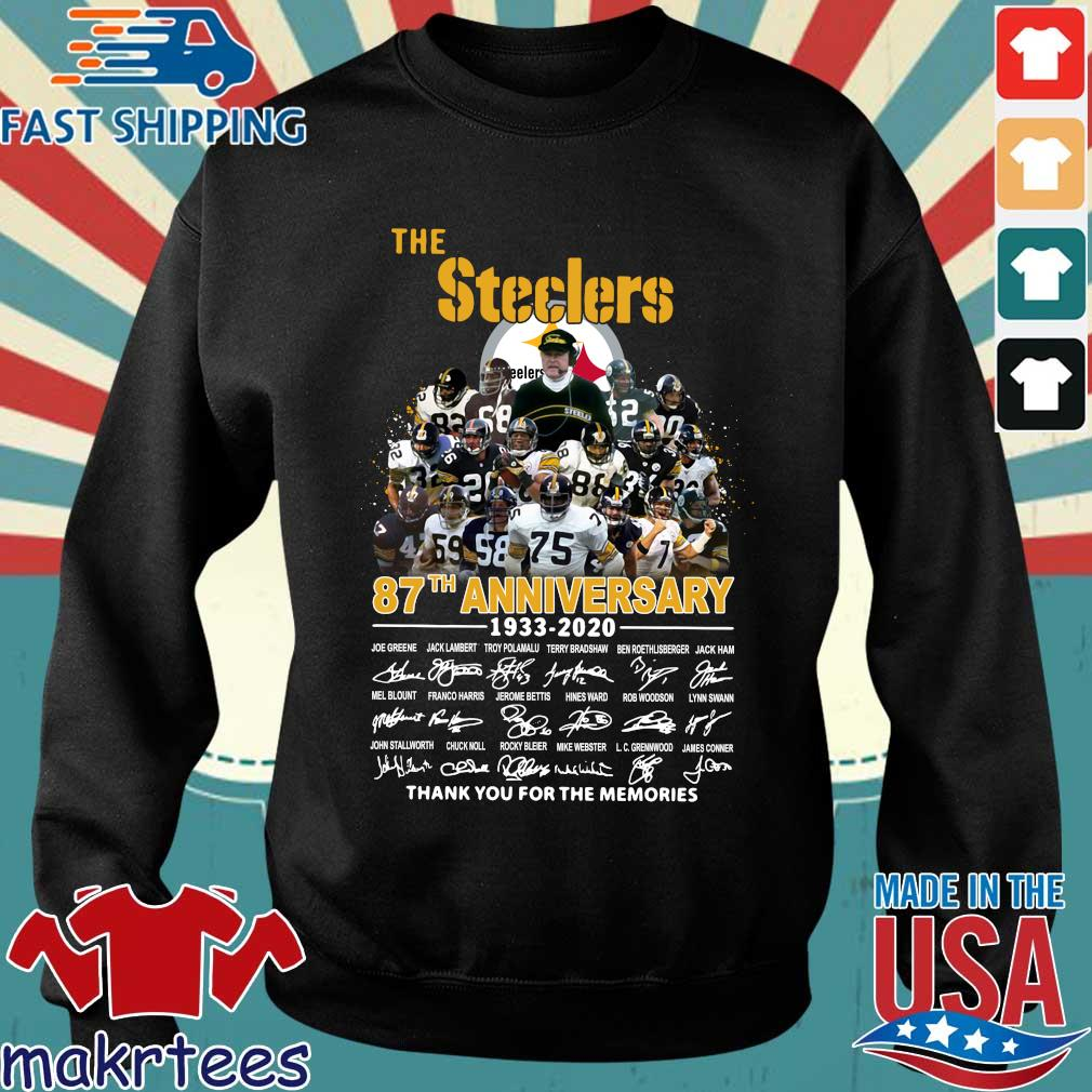 The Pittsburgh Steelers 87th Anniversary 1933-2020 Signatures Thank You For The Memories Shirt Sweater den