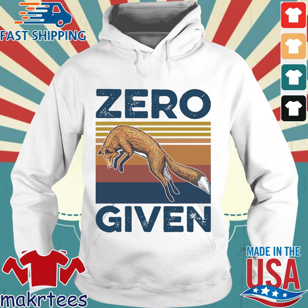 The Wolf Zero Given Vintage Shirt Hoodie trang
