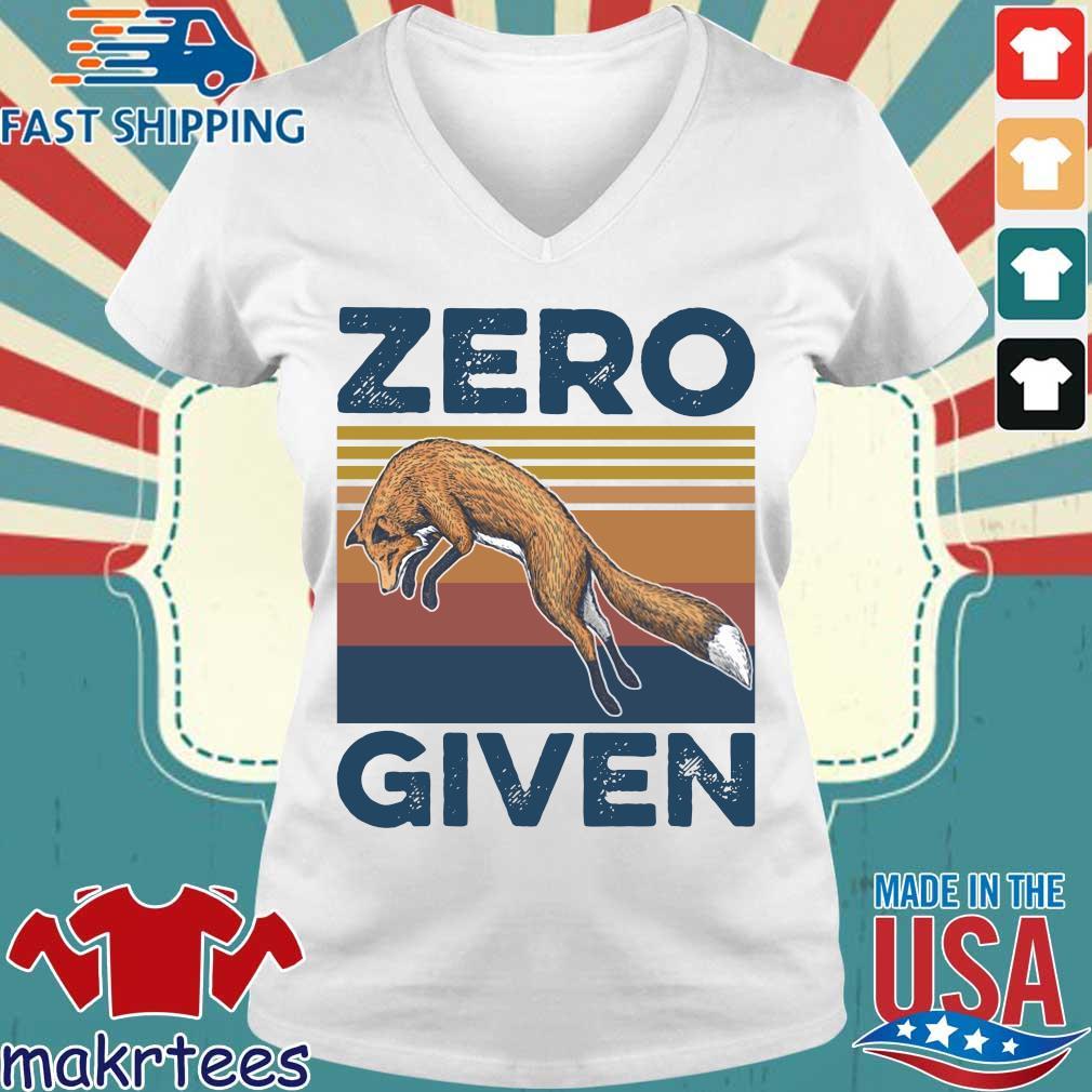 The Wolf Zero Given Vintage Shirt Ladies V-neck trang