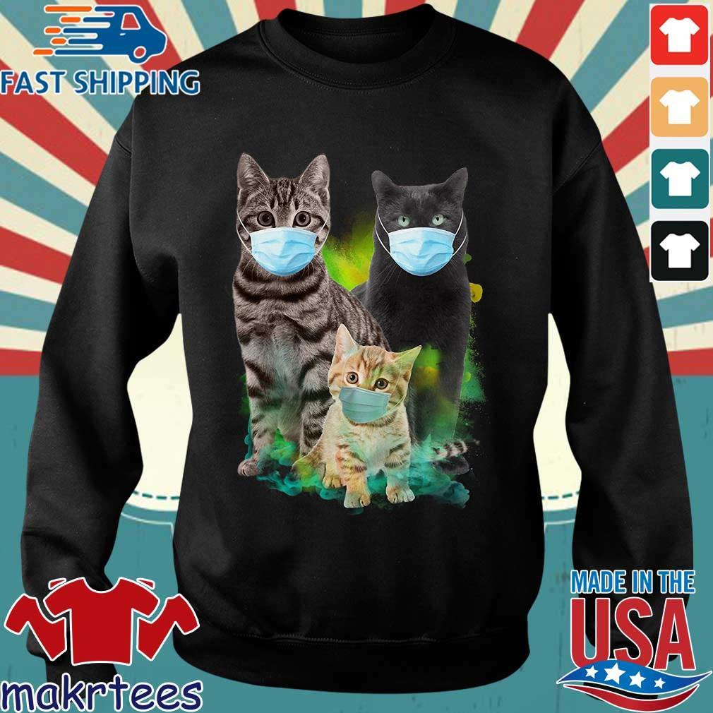 Three Cat Wear Face Mask Shirt Sweater den