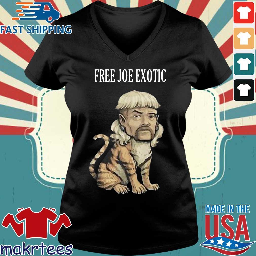 Tiger King Free Joe Exotic Shirt Ladies V-neck den