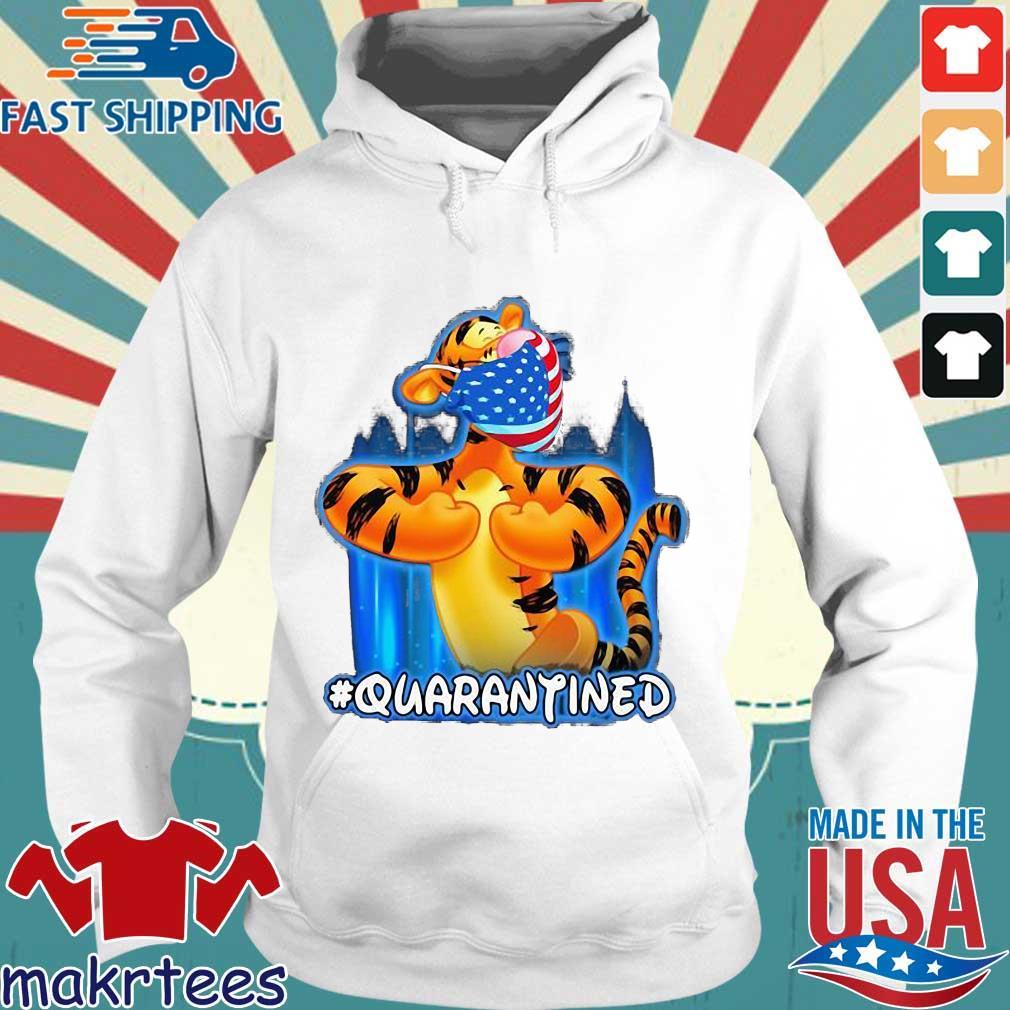 Tiger Quarantined American Flag Mask Disney Shirt Hoodie trang