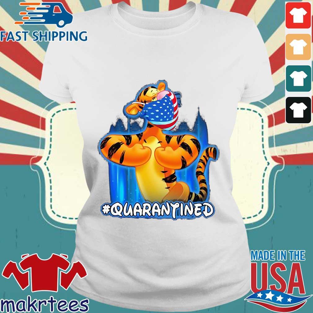 Tiger Quarantined American Flag Mask Disney Shirt Ladies trang