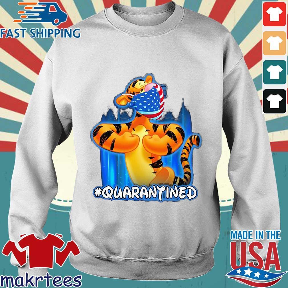 Tiger Quarantined American Flag Mask Disney Shirt Sweater trang