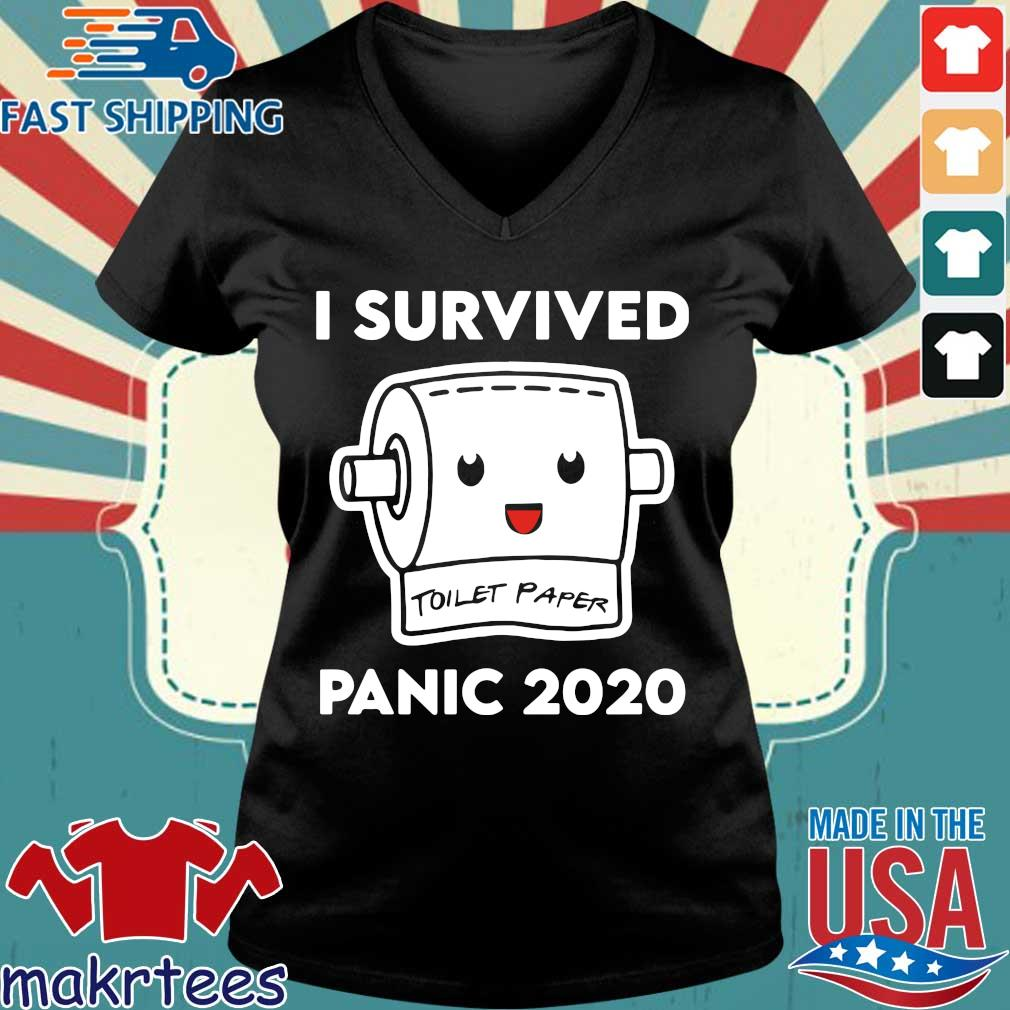 Toilet Paper Shortage Virus Flu Panic 2020 Shirt Ladies V-neck den