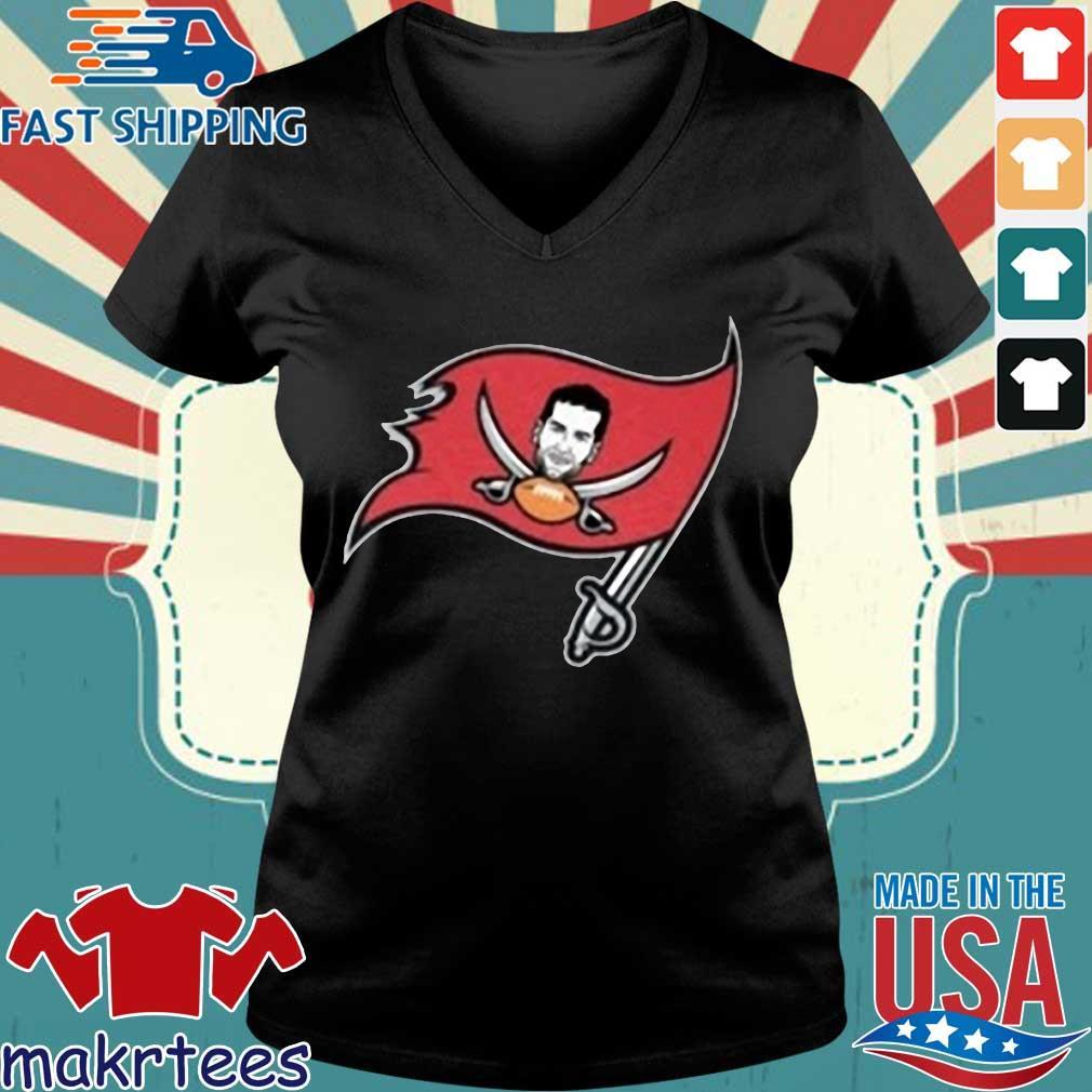 Tompa Bay Flag Tee Shirt – Tom Brady Tampa Bay Buccaneers Shirt Ladies V-neck den
