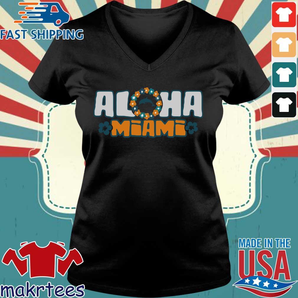 Tua Tagovailoa Dolphins Aloha Miami Shirt Ladies V-neck den