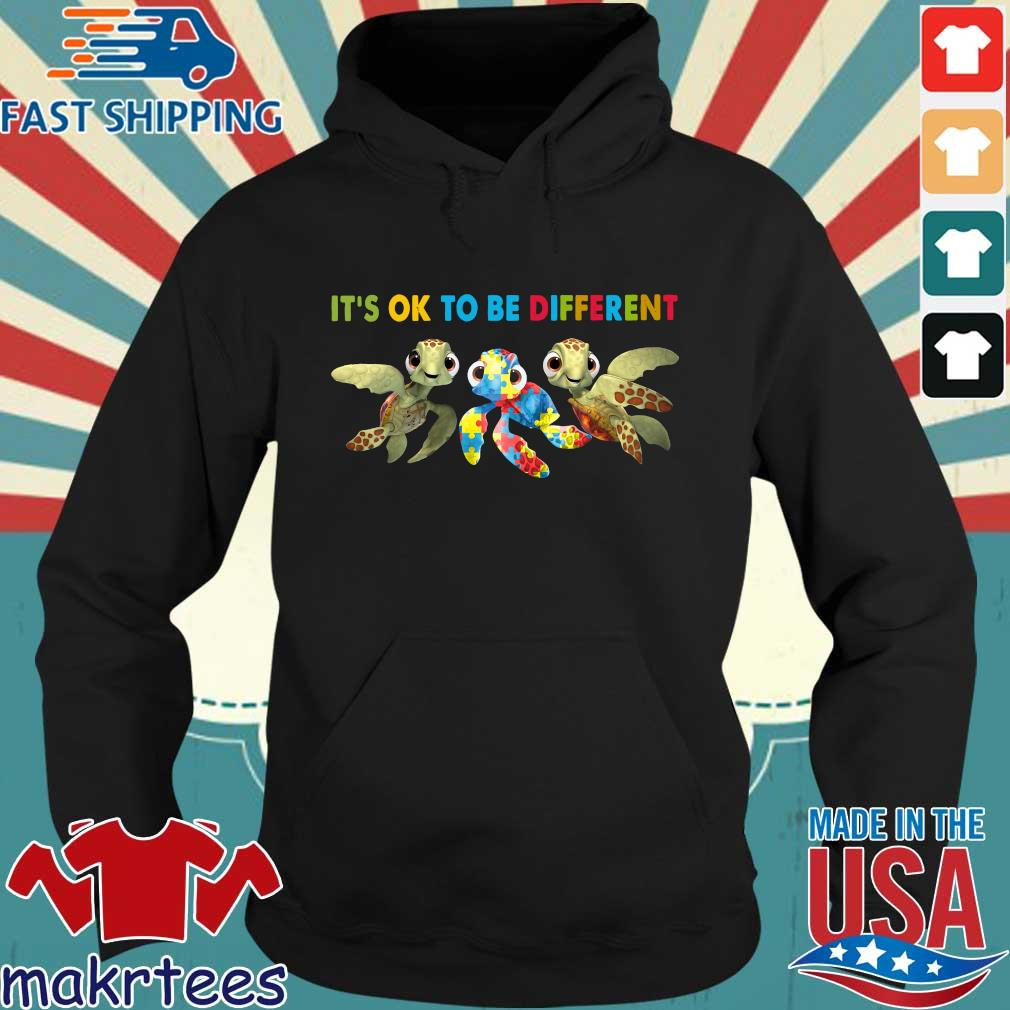 Turtle Autism It's Ok To Be Different Shirt Hoodie den