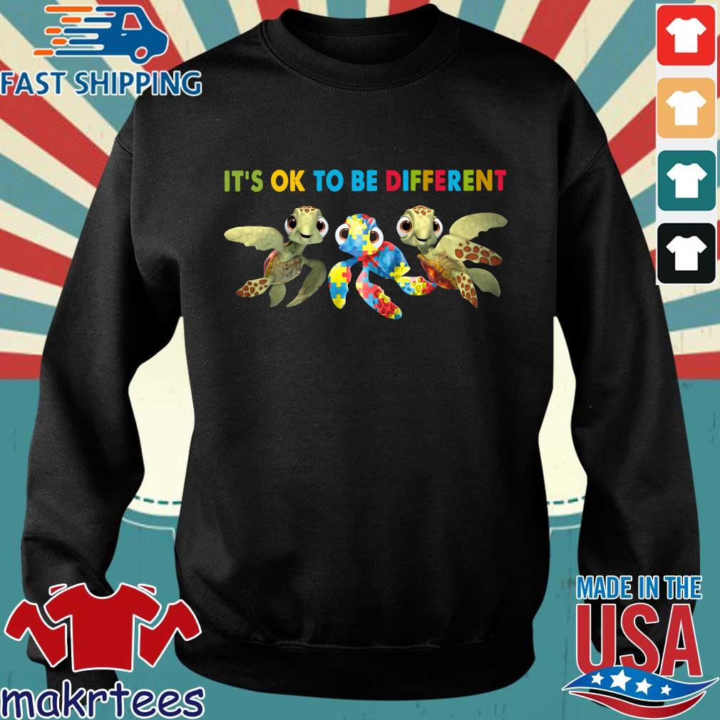 Turtle Autism It's Ok To Be Different Shirt Sweater den