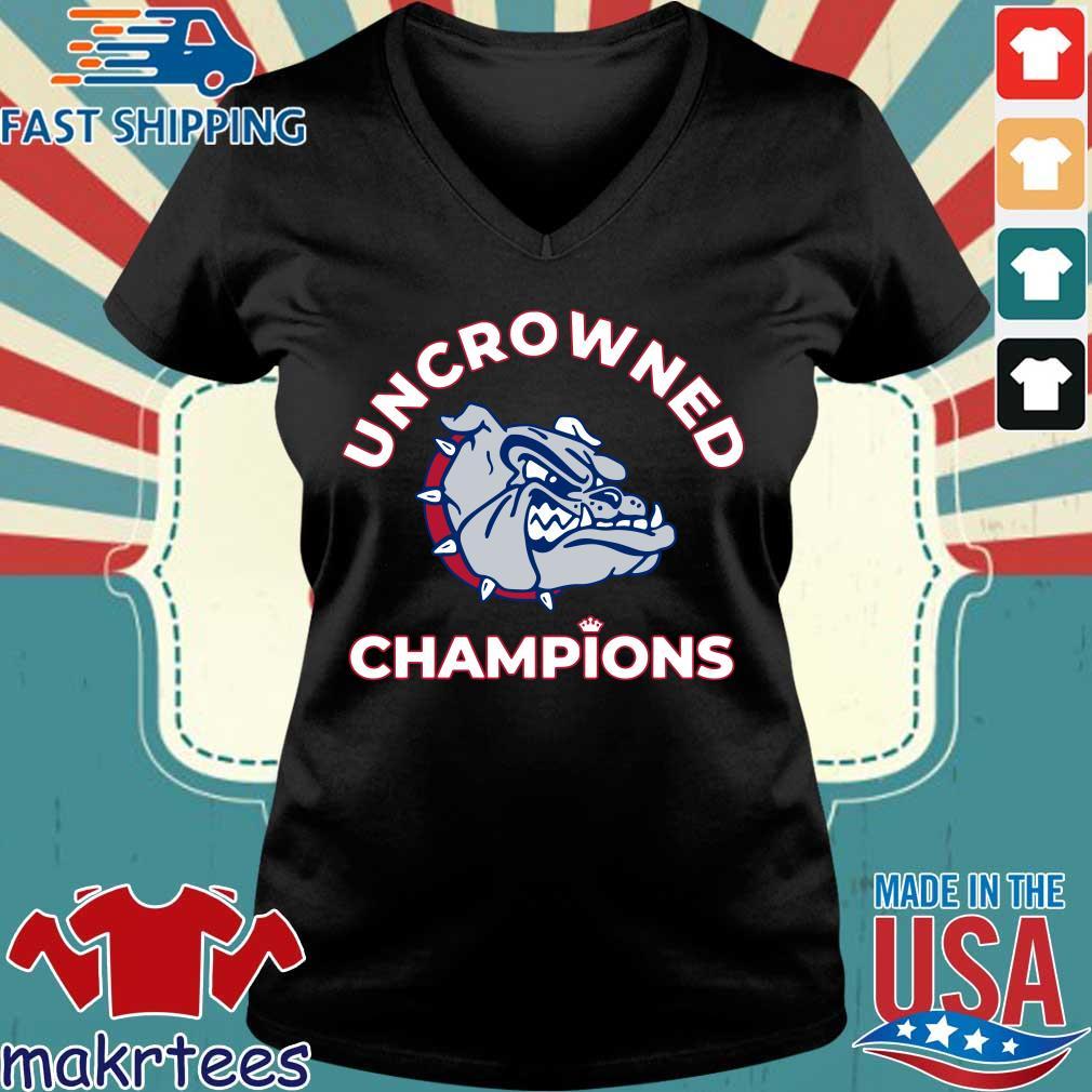 Uncrowned Champions Gonzaga basketball Official Shirt Ladies V-neck den