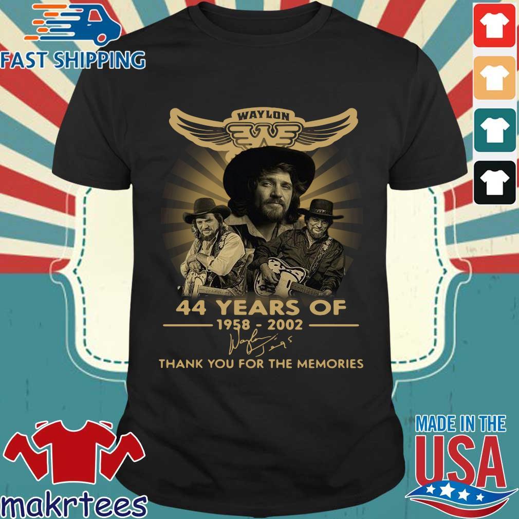 Waylon Jennings 44 Years Of 1958 2020 Signature Thank You For The Memories Shirt