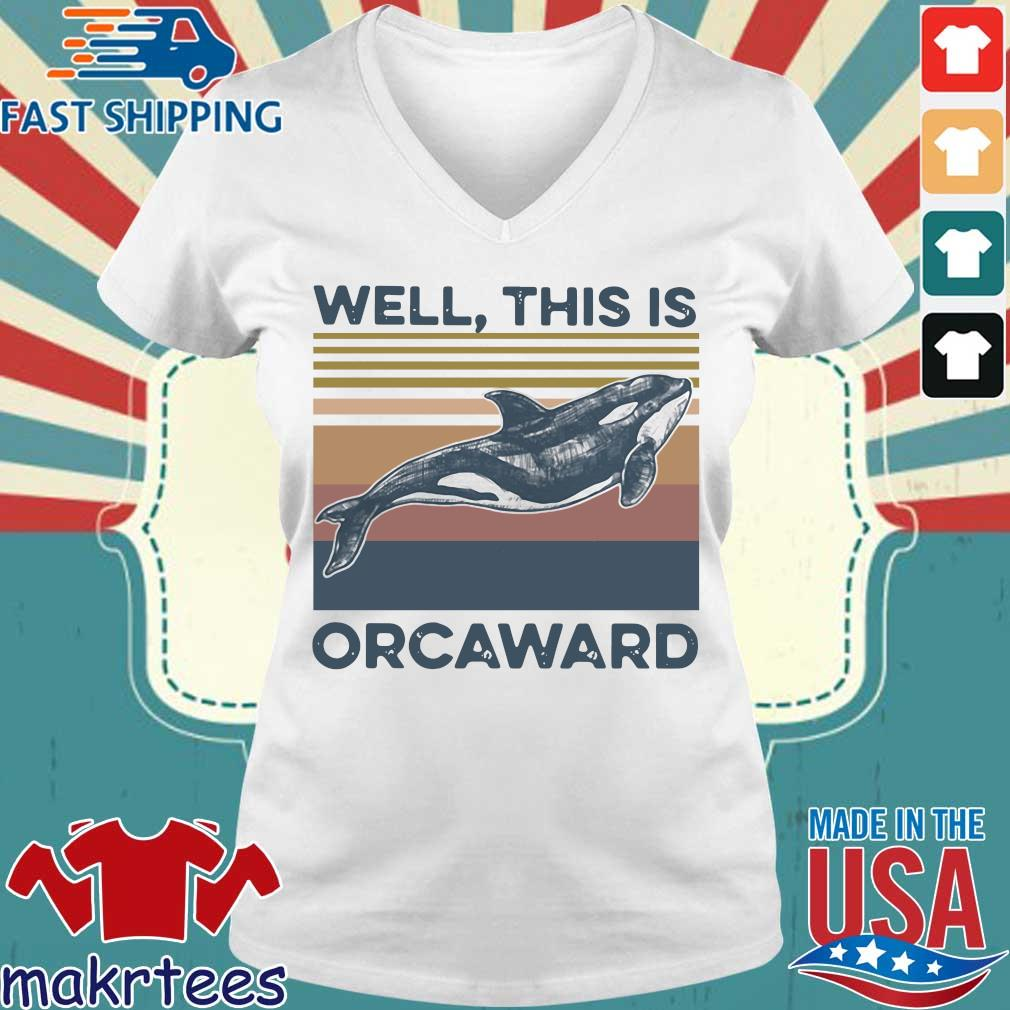 We This Is Orcaward Fish Vintage Shirt Ladies V-neck trang