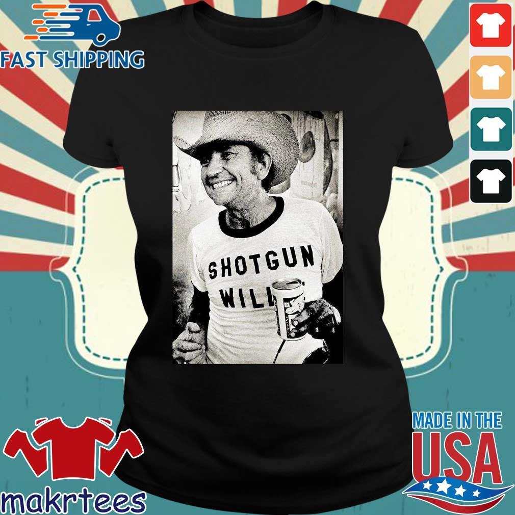 Willie Nelson Shotgun Willie Shirt Ladies den