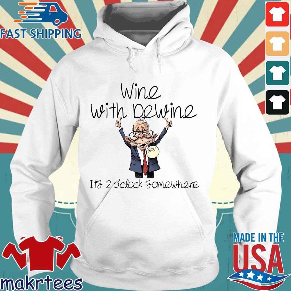 Wine with Dewine its 2 oclock somewhere chibi Shirt Hoodie trang