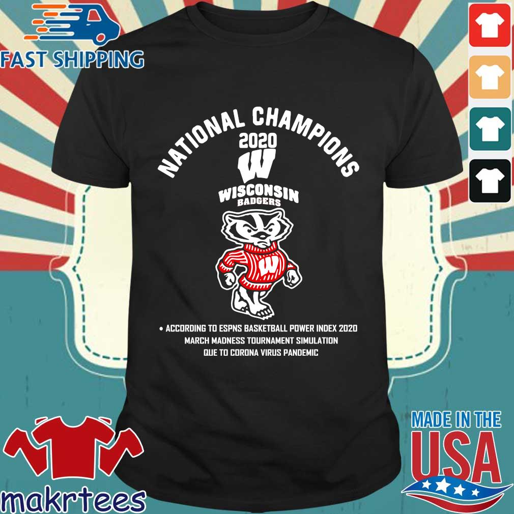 Wisconsin Badgers National Champions 2020 Tee Shirt