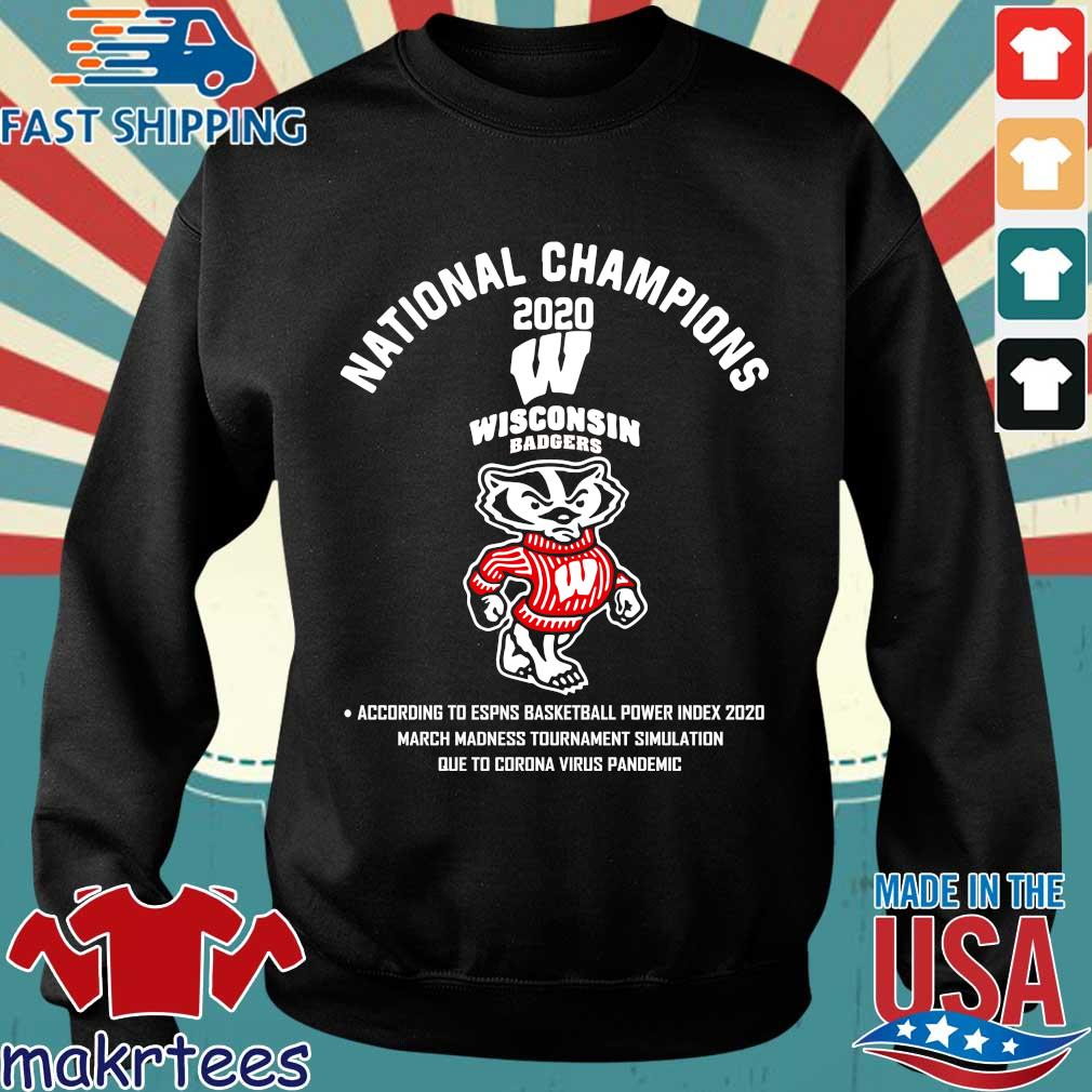 Wisconsin Badgers National Champions 2020 Tee Shirt Sweater den