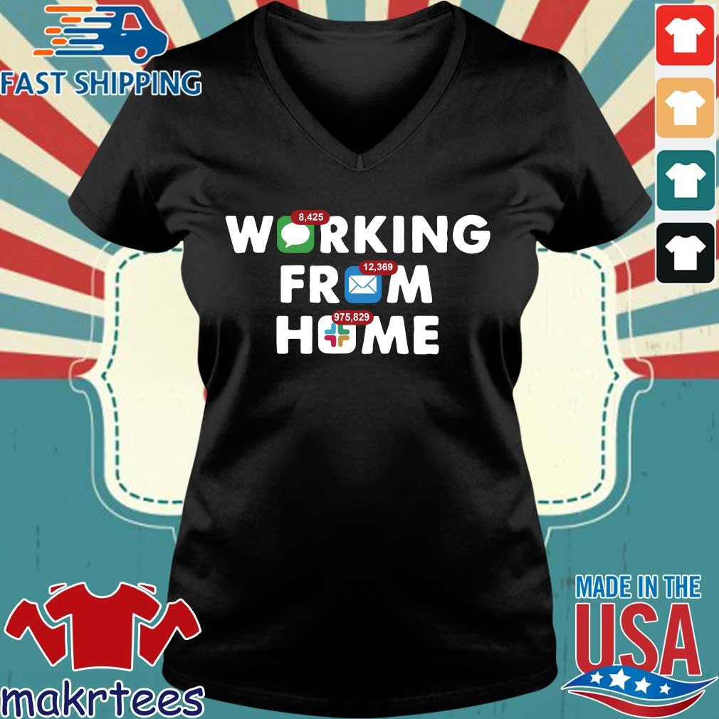 Working From Home Notifications 2020 Shirt Ladies V-neck den