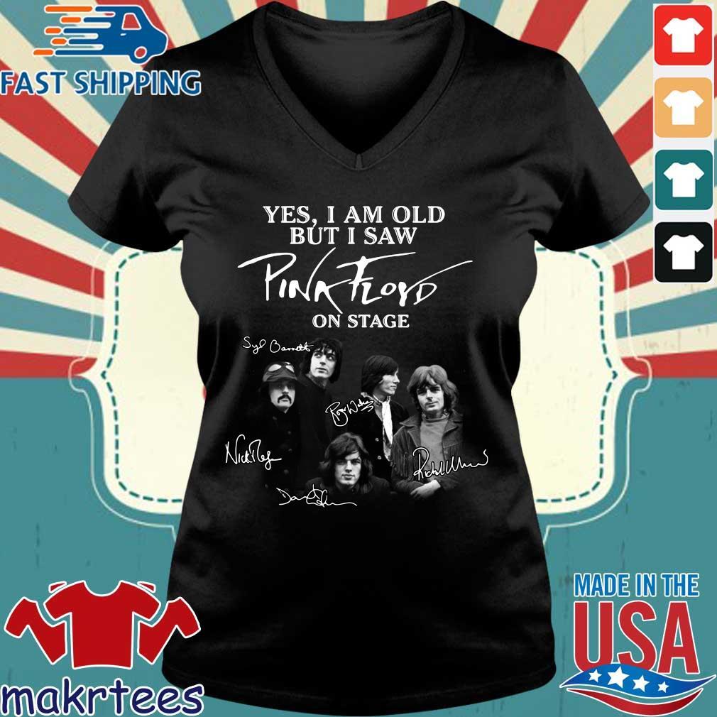 Yes I Am Old But I Saw Pink Floyd On Stage Sinatural Shirt Ladies V-neck den