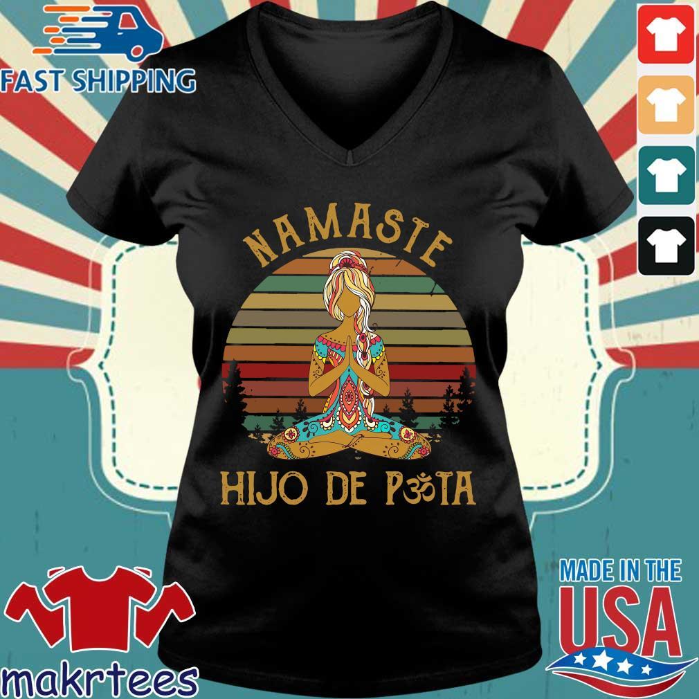 Yoga Peace Namaste Hijo De Puta Vintage Shirt Ladies V-neck den
