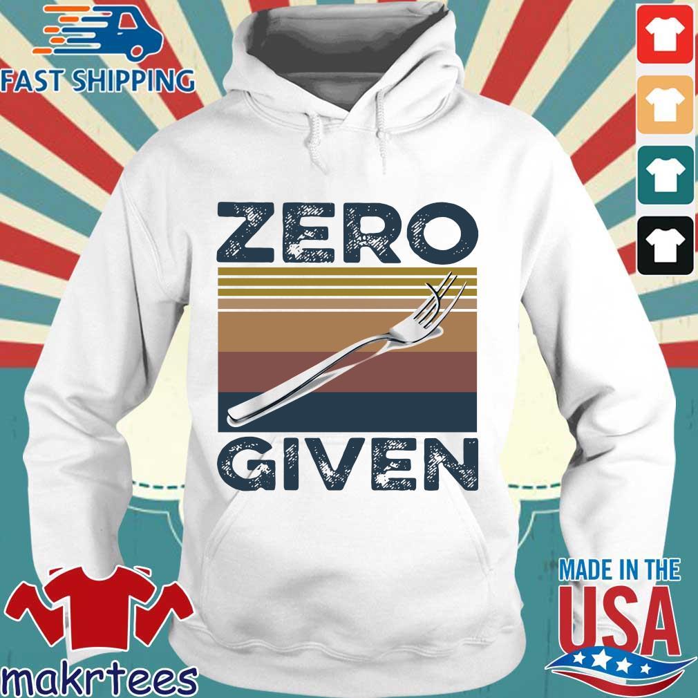 Zero Give Vintage Shirt Hoodie trang
