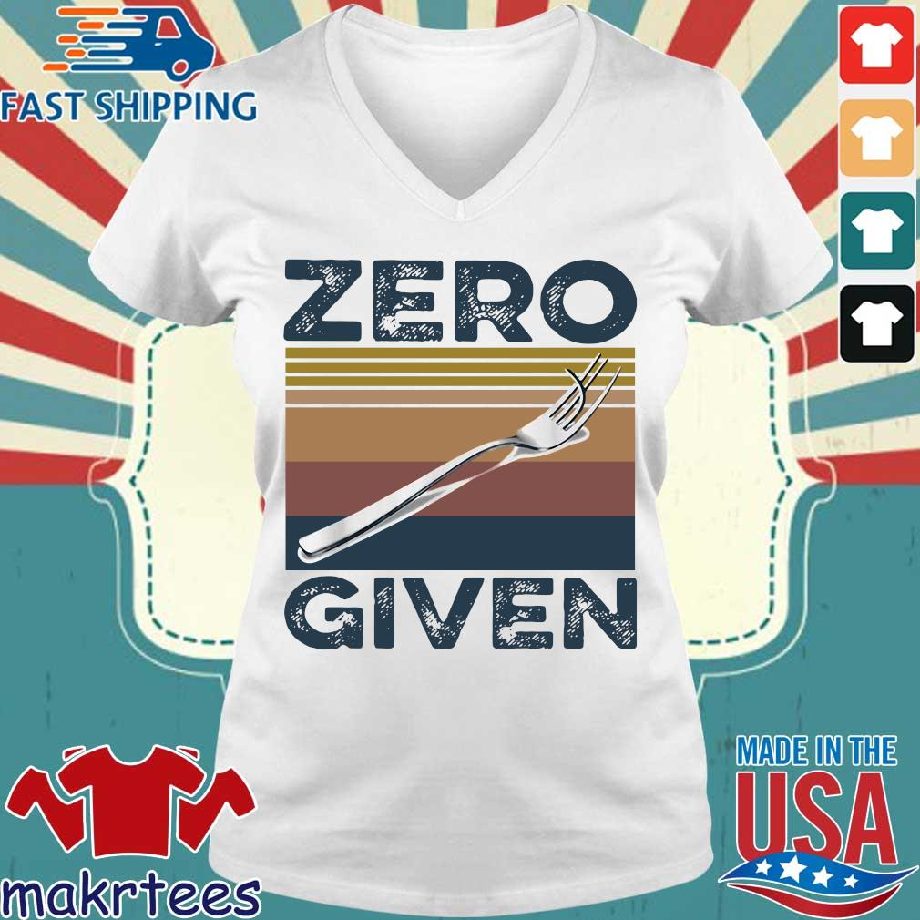 Zero Give Vintage Shirt Ladies V-neck trang
