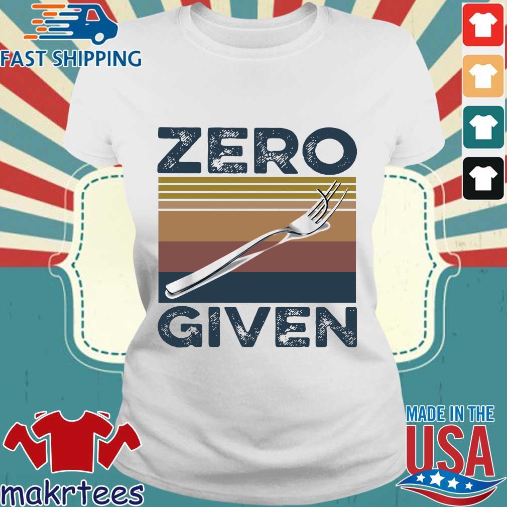 Zero Give Vintage Shirt Ladies trang