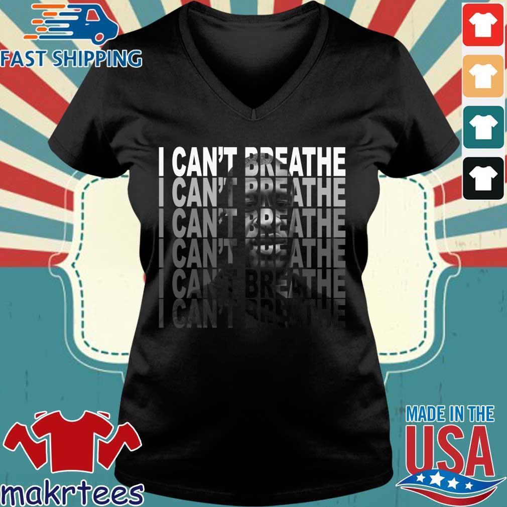 George Floyd Lebron James I Can't Breathe Shirt Ladies V-neck den